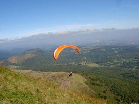 Parapent from the Puy-de-Dôme